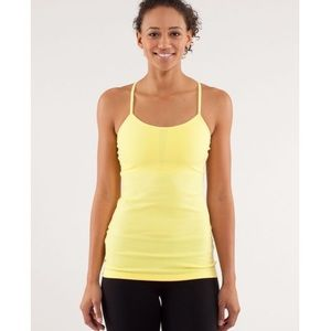 Lululemon Power Y Tank LuonLight Mellow Yellow Sz4